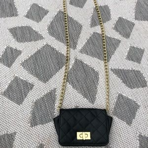 Handbags - Cute black & gold multi/use purse